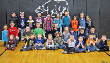 Hardin Northern Elementary Students of Month for February, grades K-2