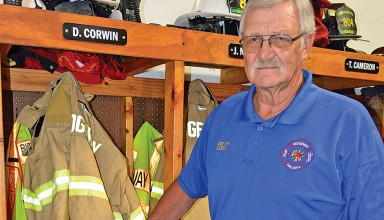 Honored fireman featured