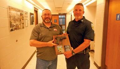 Retiring officer honored